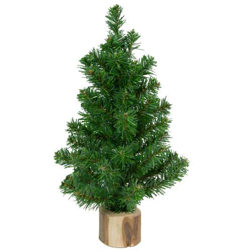 "12.25"" Alpine Slim Artificial Christmas Tree with Wood Base - Unlit - IMAGE 1"