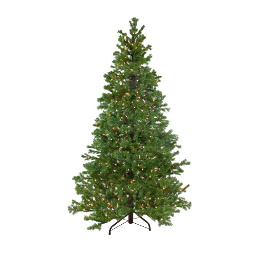 6.5' Pre-Lit Medium Pine Artificial Christmas Tree - Clear Dura-Lit Lights - IMAGE 1