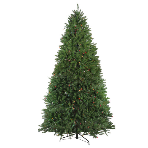 9' Pre-Lit Full Northern Pine Artificial Christmas Tree - Multicolor Lights - IMAGE 1