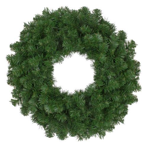 Deluxe Windsor Full Pine Artificial Christmas Wreath - 24-Inch, Unlit - IMAGE 1