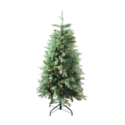 4.7' Pre-Lit Medium Fresh Cut Carolina Fraser Fir Artificial Christmas Tree - Clear Lights - IMAGE 1