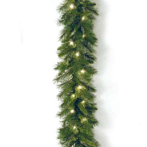 "9' x 10"" Pre-Lit Winchester Pine Artificial Christmas Garland - Clear Lights - IMAGE 1"