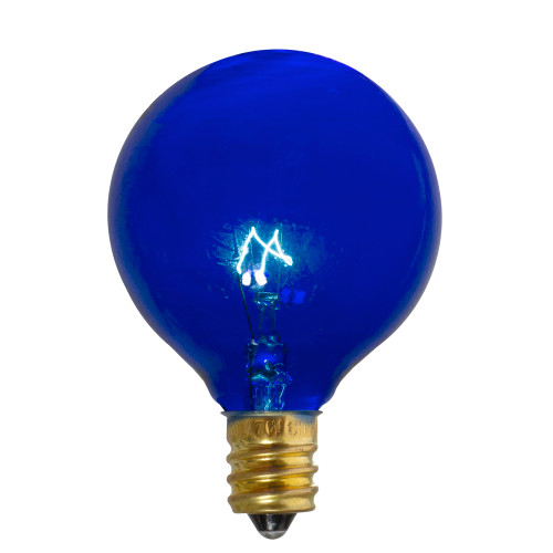 Pack of 25 Incandescent G50 Blue Christmas Replacement Bulbs - IMAGE 1