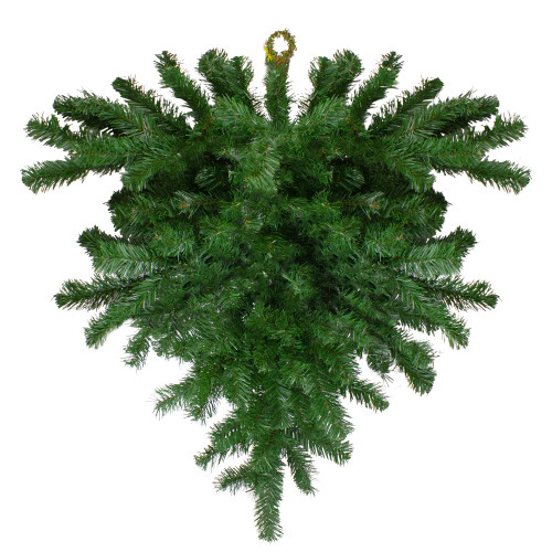 "34"" Windsor Pine Artificial Christmas Teardrop Swag - Unlit - IMAGE 1"