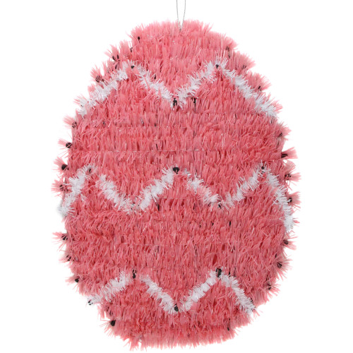 """12"""" Pink and White Easter Egg Hanging Window Decor - IMAGE 1"""