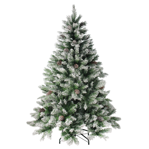6' Medium Flocked Angel Pine Artificial Christmas Tree - Unlit - IMAGE 1