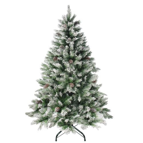 6' Medium Flocked Angel Pine Artificial Christmas Tree - Unlit - IMAGE 1