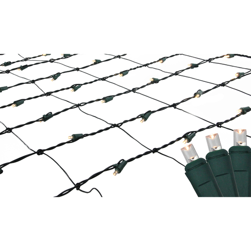 4 x 6 Warm White LED Wide Angle Christmas Net Lights - IMAGE 1