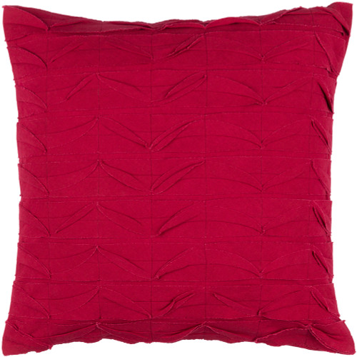 """20"""" Bright Red Textured Decorative Throw Pillow - Down Filler - IMAGE 1"""