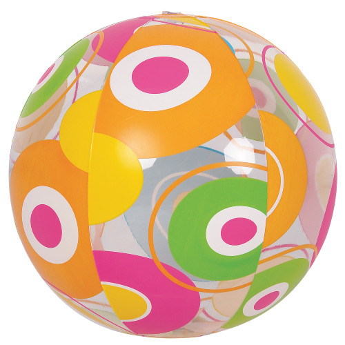 """20"""" Inflatable Bright Circle Print Beach Ball Swimming Pool Toy - IMAGE 1"""