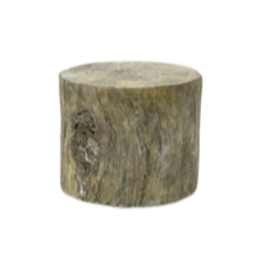 """Set of 2 Brown and Gray Tree Trunk Outdoor Garden Stands 9.75"""" - IMAGE 1"""