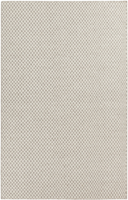 8' x 11' Ivory and Taupe Brown Hand Woven Wool Area Throw Rug - IMAGE 1