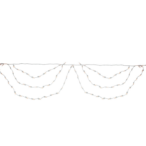 150ct Clear Swag Mini Christmas Lights - White Wire - IMAGE 1
