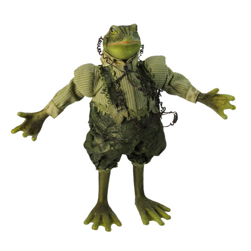 """13"""" Princess Garden Whimsical Green Mr. Frog Decorative Figure with Vine Accents - IMAGE 1"""