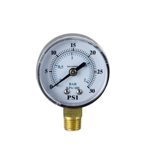"""2.75"""" Side Mount Filter Pressure Gauge - 0-30 PSI - IMAGE 1"""