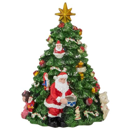 "6.25"" Musical Revolving Christmas Tree Music Box - IMAGE 1"