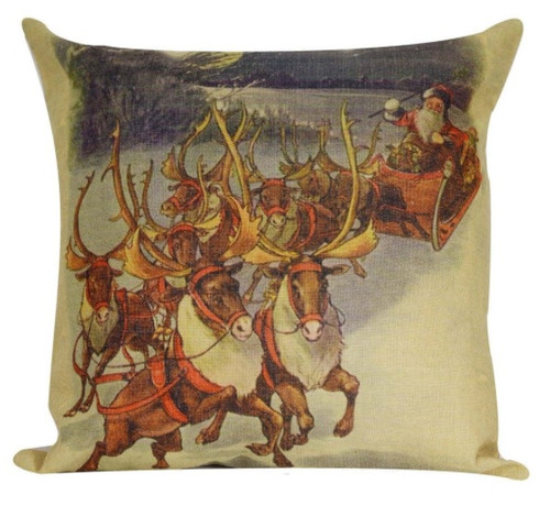 18 Brown Square Gerda Reindeer Christmas Throw Pillow Cover Christmas Central