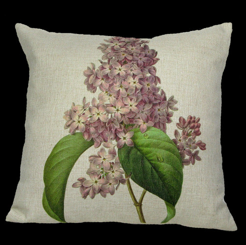 """18"""" Purple and Green Square Lilac Throw Pillow Cover - IMAGE 1"""