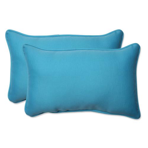 "Set of 2 Veranda turquoise rectangular throw pillow 18.5"" L x 11.5"" W - IMAGE 1"