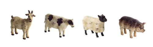 """Pack of 8 Brown Country Rustic Distressed Farm Animal Decorative Tabletop Figures 7.5"""" - IMAGE 1"""
