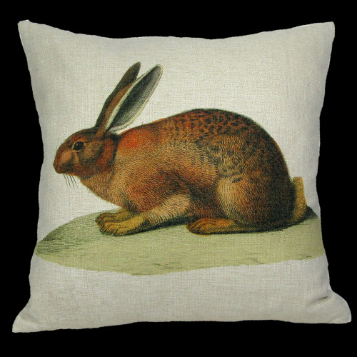 "18"" White and Brown Darling Bunny Decorative Throw Pillow - IMAGE 1"