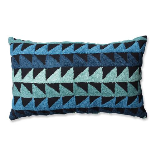 """18.5"""" Samba Blue and Black Rectangular Ombre Throw Pillow - IMAGE 1"""