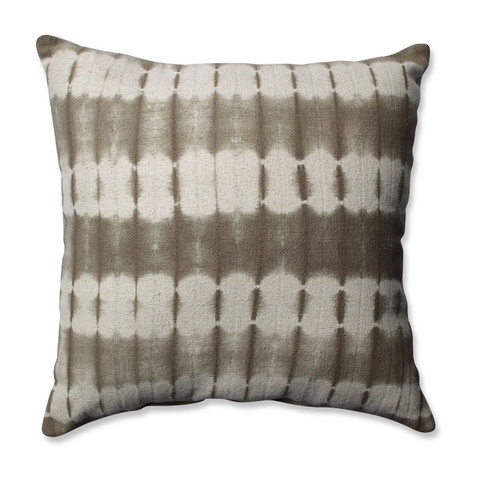 """18"""" Brown and Cream White Square Throw Pillow - IMAGE 1"""