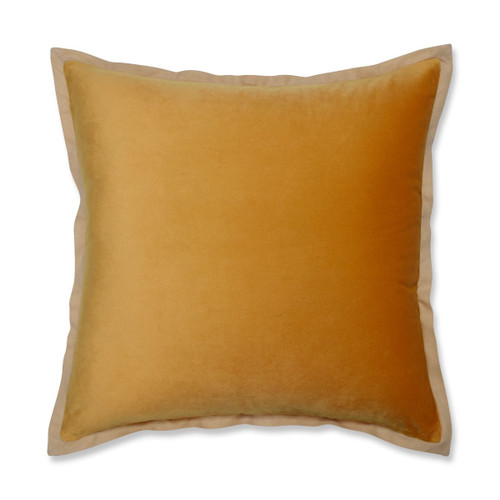 """18"""" Yellow Solid Contemporary Square Throw Pillow - IMAGE 1"""