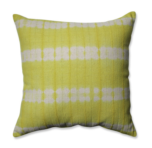 """18"""" Pear Green and White Square Throw Pillow - IMAGE 1"""