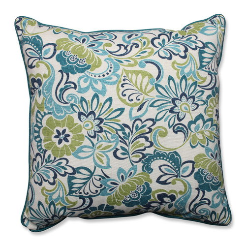 """5"""" Blue and Green Floral Floor Pillow Comfort and Style - IMAGE 1"""