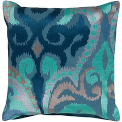 """20"""" Stone Blue Contemporary Throw Pillow - Down Filler - IMAGE 1"""