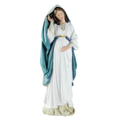 "8.75"" Joseph's Studio Garden Pregnant Holy Mother Mary Religious Figure - IMAGE 1"