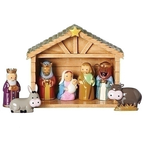 """8-Piece Children's First Religious Table Top Christmas Nativity Set 6.75"""" - IMAGE 1"""