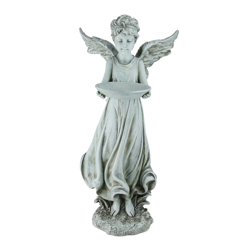 "17.75"" Joseph's Studio Inspirational Angel Decorative Outdoor Bird Feeder Garden Statue - IMAGE 1"