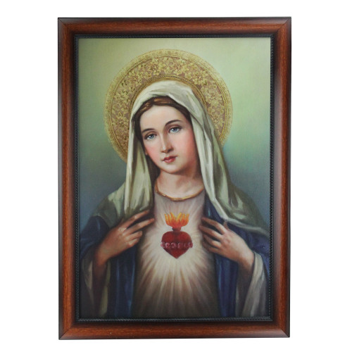 """27.5"""" Joseph's Studio Immaculate Heart of the Blessed Virgin Mary Decorative Framed Art - IMAGE 1"""
