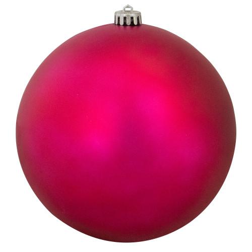 "Magenta Pink Shatterproof Matte Christmas Ball Ornament 8"" (200mm) - IMAGE 1"