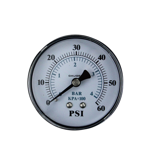 """2.5"""" Back Mount Filter Pressure Gauge - IMAGE 1"""