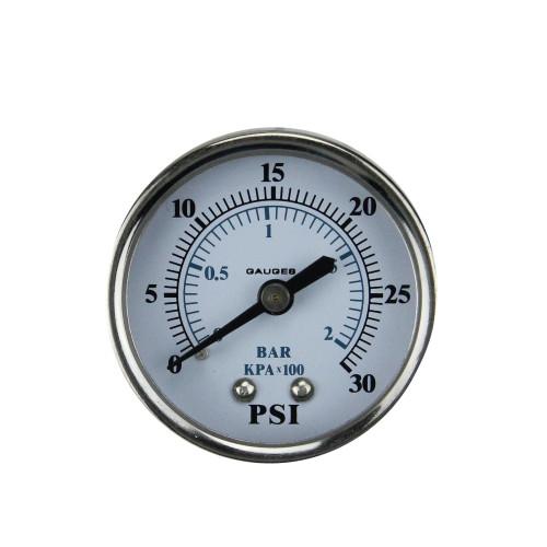 "2"" Back Mount Stainless Steel Pressure Gauge 0-30 PSI - IMAGE 1"