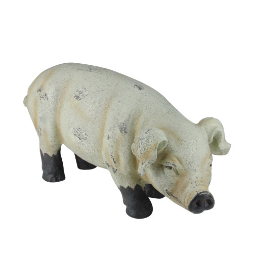 11.5-Inch Brown and Off White Smiling Gary the Pig Figure - IMAGE 1