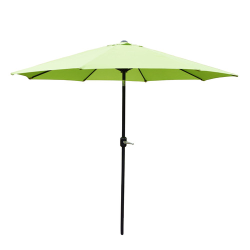 9ft Outdoor Patio Market Umbrella with Hand Crank and Tilt, Olive Green - IMAGE 1