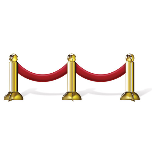 """Club Pack of 12 Red and Gold Awards Night Stanchion Tabletop Centerpieces Decors 12"""" - IMAGE 1"""