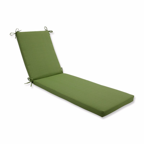"""80"""" Moss Green Solid Outdoor Patio Chaise Lounge Cushion with Ties - IMAGE 1"""