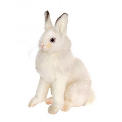 "Set of 3 White Handcrafted Soft Plush Sitting Bunny Stuffed Animals 6"" - IMAGE 1"