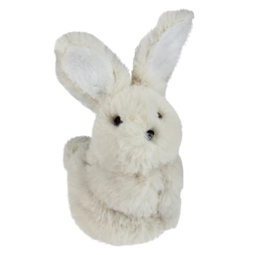 "4.75"" White Plush Standing Easter Bunny Rabbit Spring Tabletop Figurine - IMAGE 1"