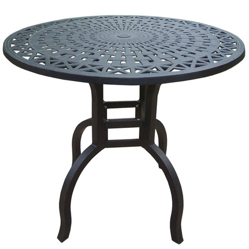 """42"""" Black Contemporary Motif Outdoor Bar Patio Table - IMAGE 1"""