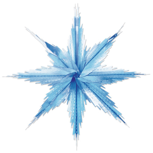 """Club Pack of 24 Silvery Blue 2-Tone Metallic Look Christmas Snowflake Decorations - 11.5"""" - IMAGE 1"""