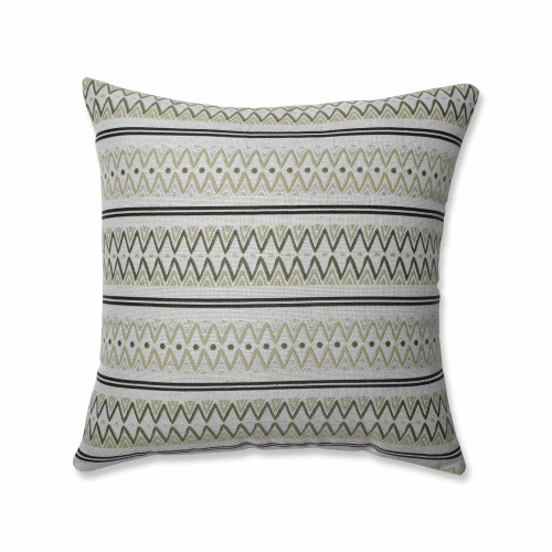 """18"""" Green and Black Striped Square Throw Pillow - IMAGE 1"""