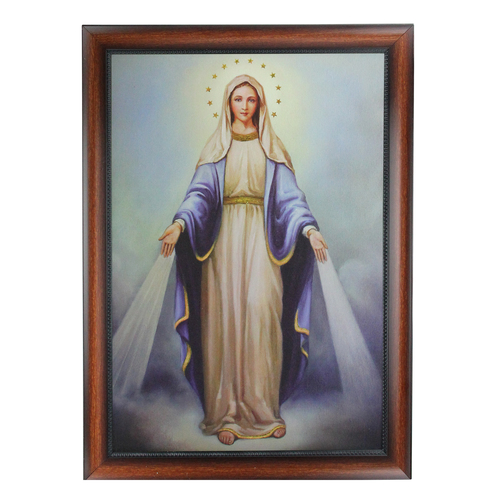 """28"""" Decorative Framed Our Lady of Grace Religious Cultural Picture - IMAGE 1"""