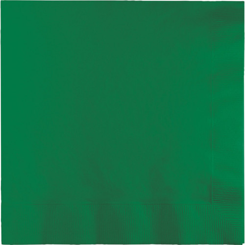 """Club Pack of 240 Emerald Green Square Disposable Beverage Napkins 6.5"""" - IMAGE 1"""