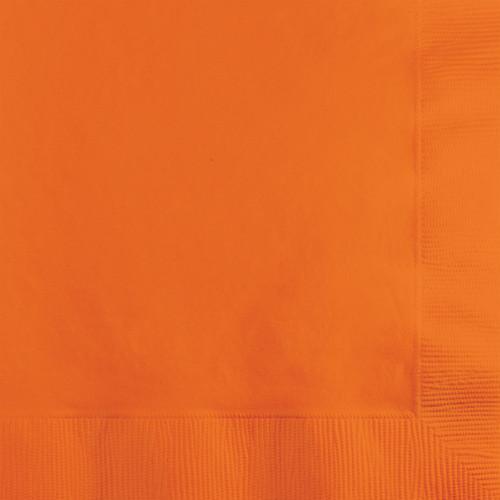 "Club Pack of 240 Yam Orange Square Disposable Beverage Napkins 6.5"" - IMAGE 1"